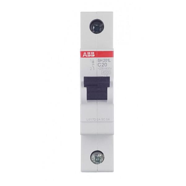 Автоматический выключатель ABB SH201L (2CDS241001R0204) 1P 20А тип C 4,5 кА 220 В на DIN-рейку