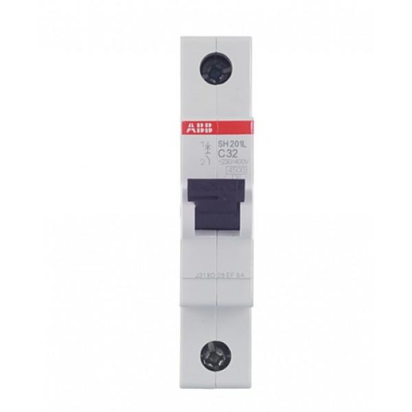 Автоматический выключатель ABB SH201L (2CDS241001R0324) 1P 32А тип C 4,5 кА 220 В на DIN-рейку