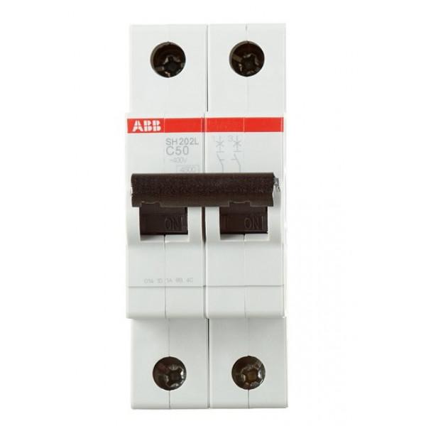 Автоматический выключатель ABB SH202L (2CDS242001R0504) 2P 50А тип C 4,5 кА 400 В на DIN-рейку