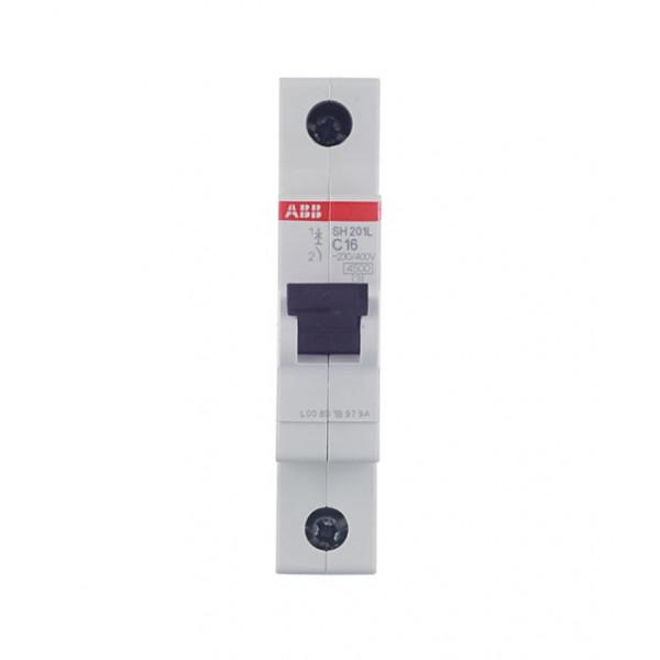 Автоматический выключатель ABB SH201L (2CDS241001R0164) 1P 16А тип C 4,5 кА 220 В на DIN-рейку
