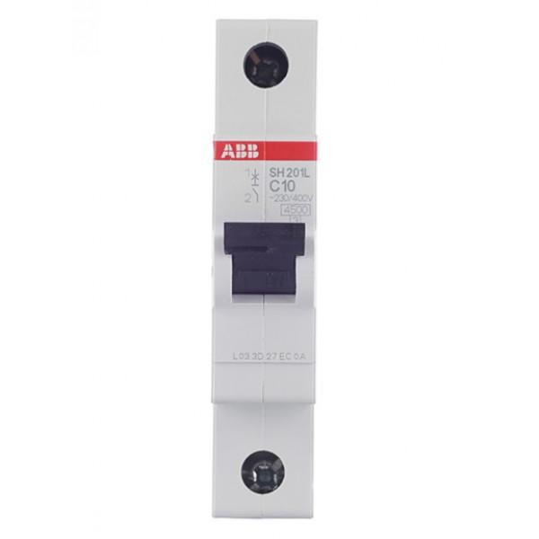 Автоматический выключатель ABB SH201L (2CDS241001R0104) 1P 10А тип C 4,5 кА 220 В на DIN-рейку