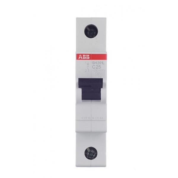 Автоматический выключатель ABB SH201L (2CDS241001R0254) 1P 25А тип C 4,5 кА 220 В на DIN-рейку