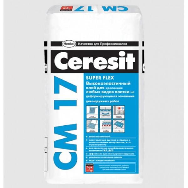 Клей для плитки Ceresit CM-17, 25 кг