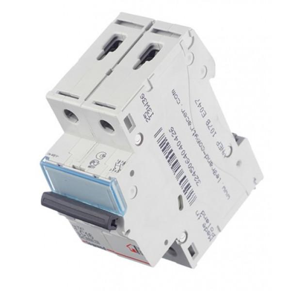 Автоматический выключатель Legrand TX3 (404042) 2P 16А тип C 6 кА 230-400 В на DIN-рейку