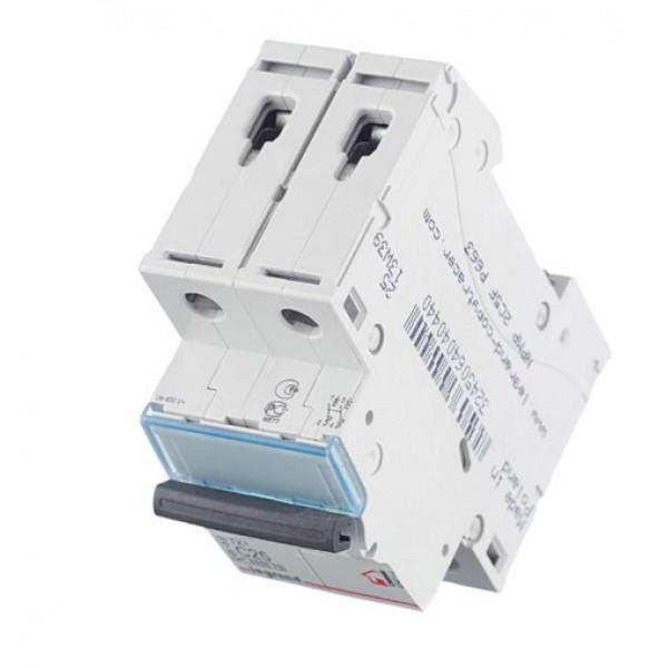 Автоматический выключатель Legrand TX3 (404044) 2P 25А тип C 6 кА 230-400 В на DIN-рейку