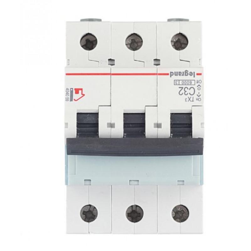 Автоматический выключатель Legrand TX3 (404059) 3P 32А тип C 6 кА 400 В на DIN-рейку