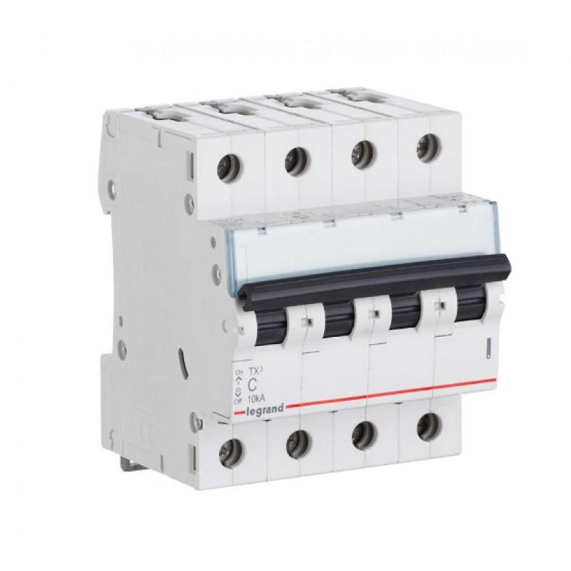 Автоматический выключатель Legrand TX3 (404072) 4P 25А тип C 6 кА 220 В на DIN-рейку