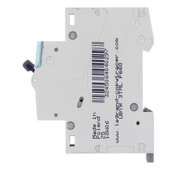 Автоматический выключатель Legrand TX3 (404029) 1P 20А тип C 6 кА 230-400 В на DIN-рейку