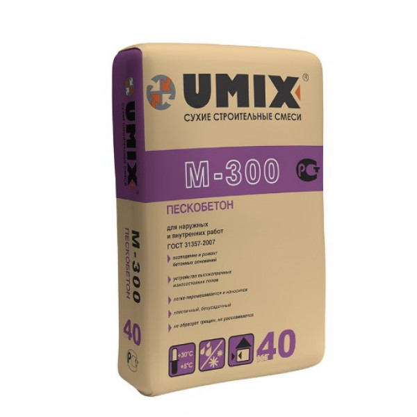 Пескобетон (ЦПС) М300 Umix 40 кг
