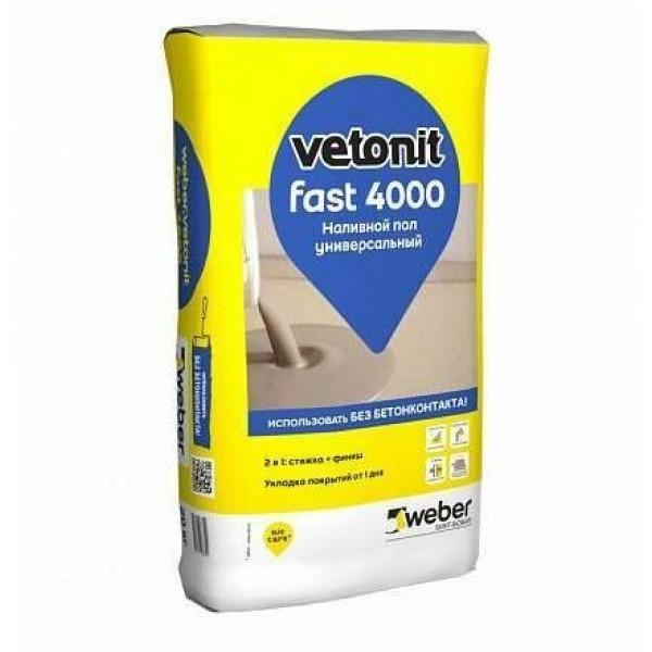 Пол наливной Weber Ветонит 4000, 20 кг