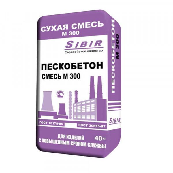 Пескобетон Сибирский цемент М-300, 40 кг