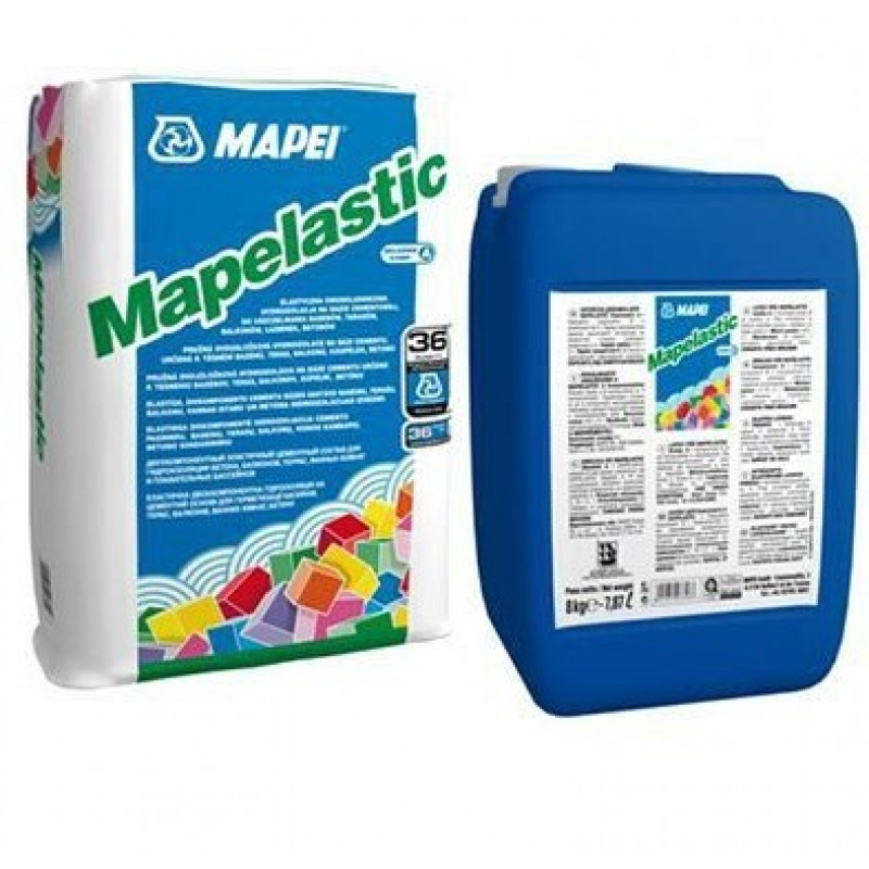 Гидроизоляция Mapei Mapelastic двухкомпонентная комплект (А+Б), 32 кг