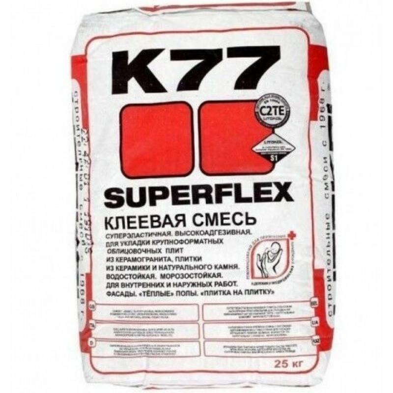 Клей для плитки Litokol Superflex K77, 25 кг