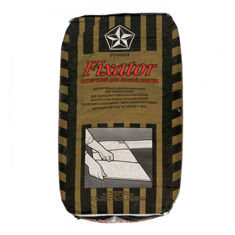 Клей для плитки и камня Русеан Fixator, 25 кг