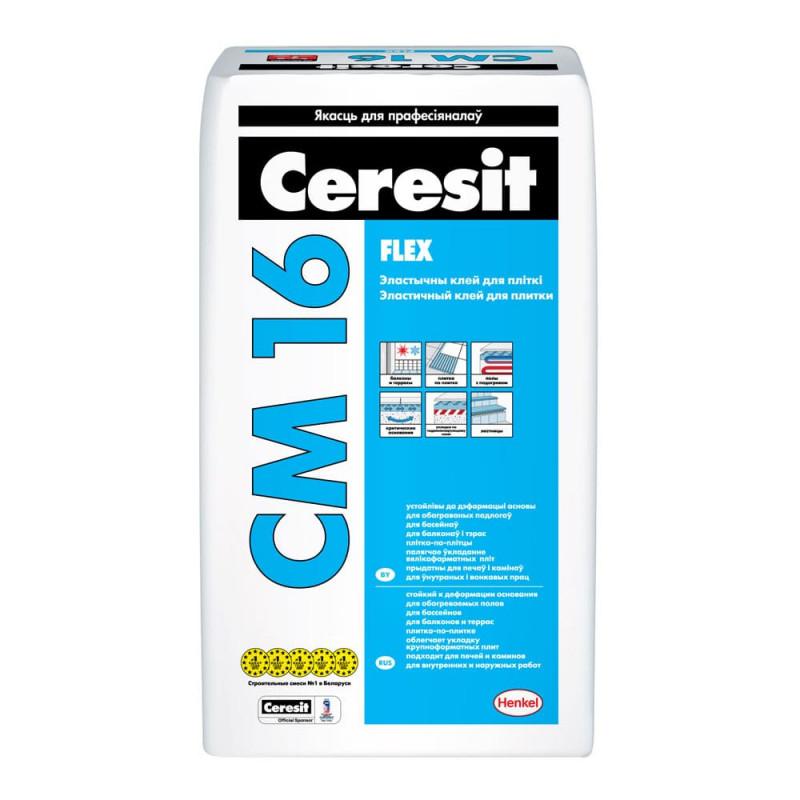 Клей для плитки и камня Ceresit CM 16 Flex, 25 кг