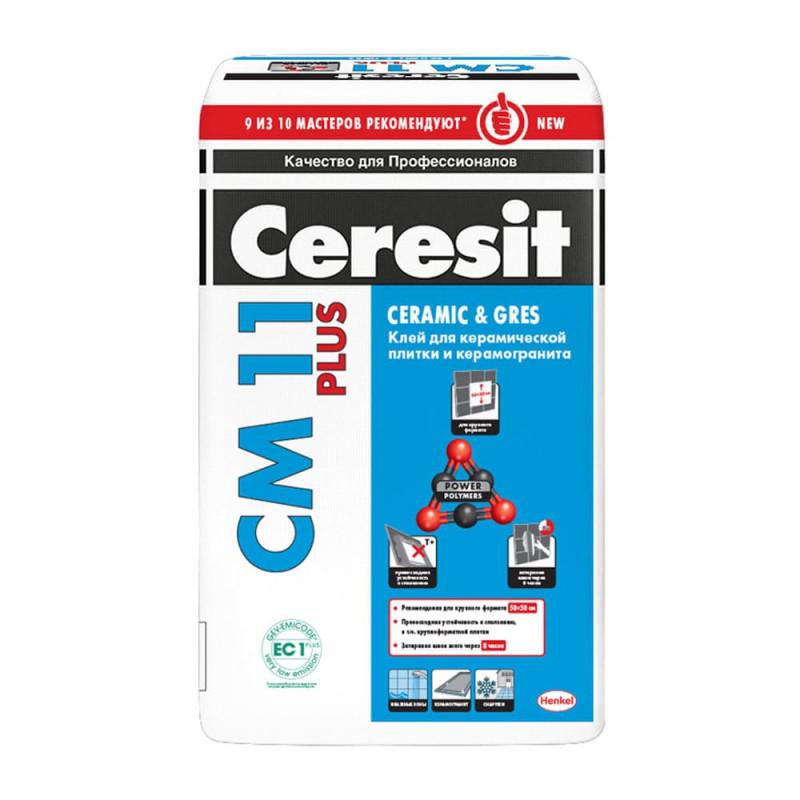 Клей для плитки и камня Ceresit СМ 11 Plus, 25 кг