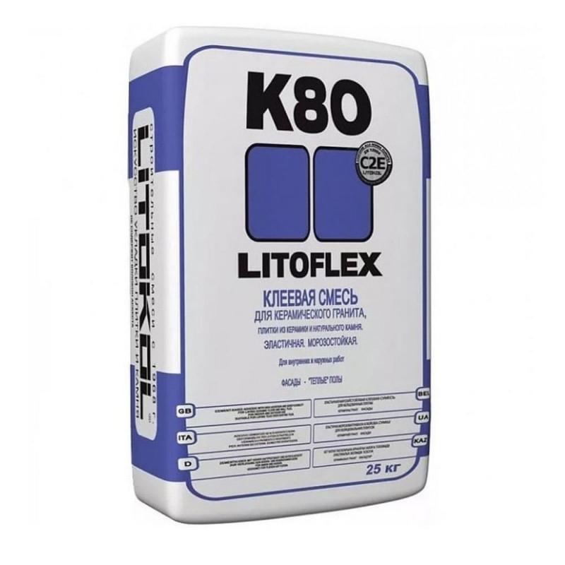 Клей для плитки и камня Litokol Litoflex K80, 25 кг