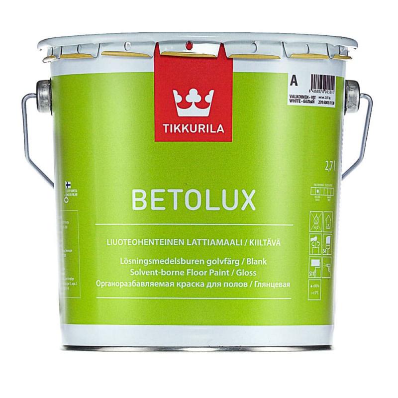 Краска для пола TIKKURILA BETOLUX основа А, 0.9л