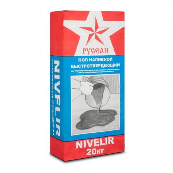 Наливной пол нивелир «Nivelir» Русеан, 20кг