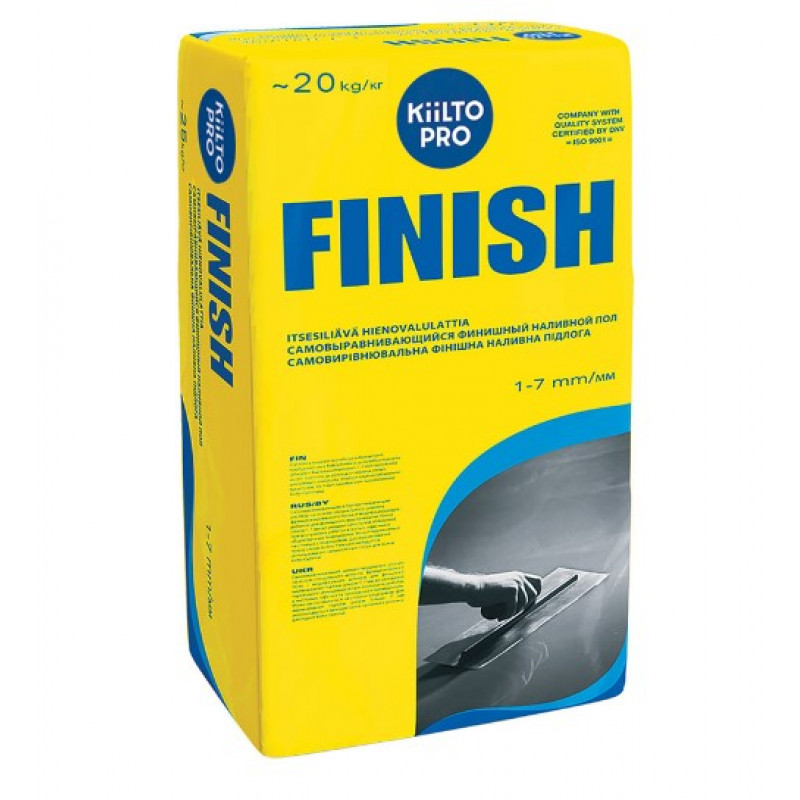 Ровнитель (наливной пол) финишный Kiilto Finish самовыравнивающийся 20 кг