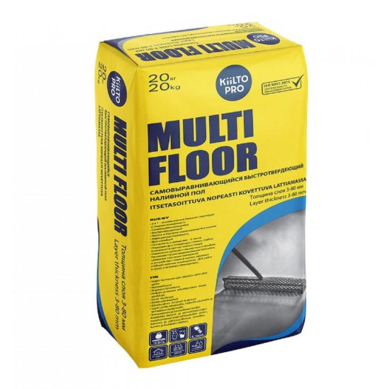 Наливной пол (самовыравнивающийся) Kiilto Multi Floor 20 кг
