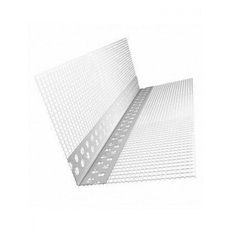 Профиль угловой штукатурный ПВХ с сеткой 10х15 мм, 2,5 м
