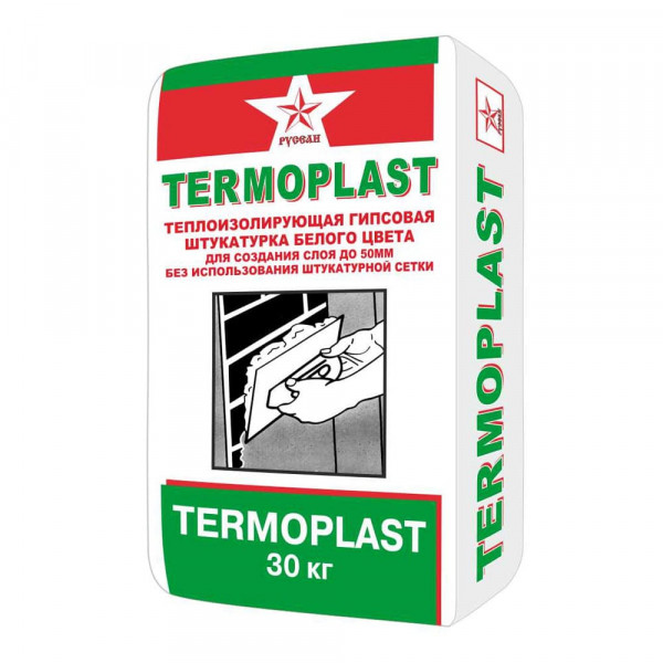 Штукатурка гипсовая Русеан Termoplast, 30 кг