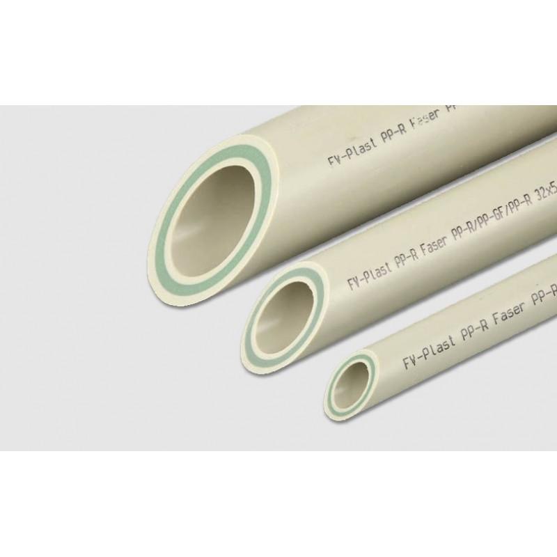 Труба полипропиленовая Faser FV Plast армированная стекловолокном, 40 мм