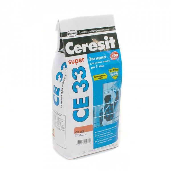 Затирка Ceresit CE 33 Super (какао 52) 2кг