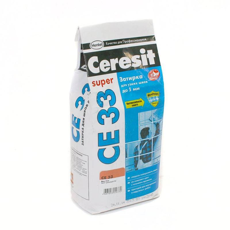 Затирка Ceresit CE 33 Super серая 2 кг